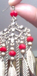 One of my favorite earrings I found while thrifting!
