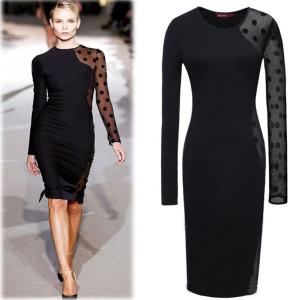 2015-Spring-Autumn-New-Women-Dress-Long-Sleeve-Slim-Pencil-Dress-Polka-Dot-Vestido-Casual-Office