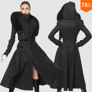 Super-queen-2015-Magazine-Luxury-Black-cold-trend-Women-s-woolen-Long-Coat-Winter-Clothes-Free