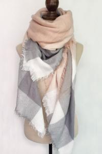 PinkGrey-Blanket-Scarf